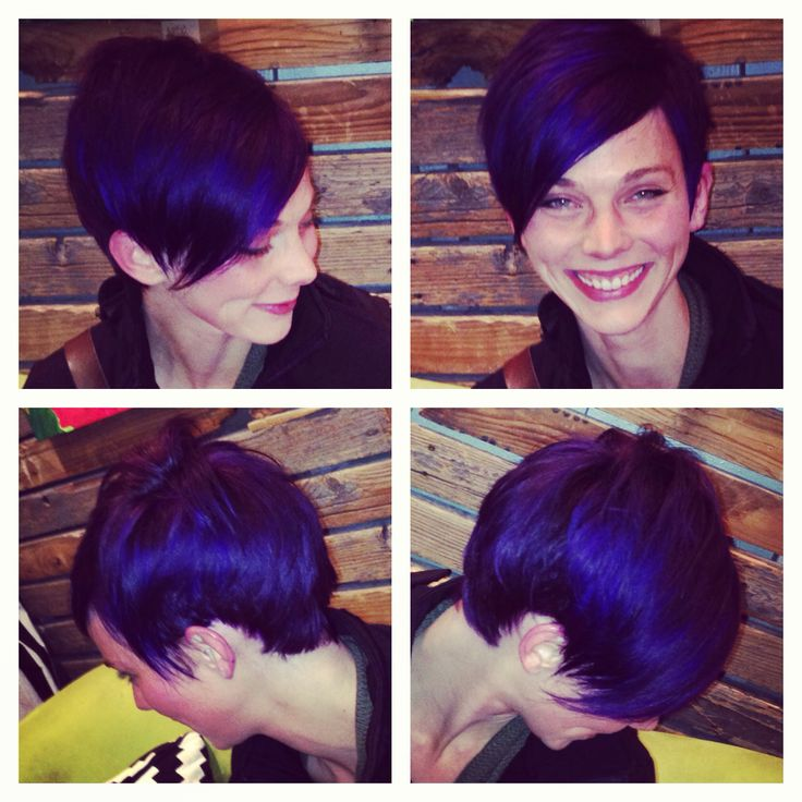 Purple Pixie Cut by Me!  Abby Shea Hair Mechanic at HeadDress Denver, www.headdressdenver.com