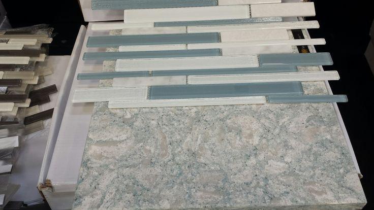 Tile Montage Biscayne With Cambria Montgomery Quartz