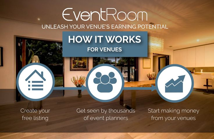 EventRoom means more income and less administration for venues.