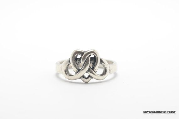 Vintage Celtic Sterling Silver Irish Heart Ring by SilverStarrs925 on Etsy
