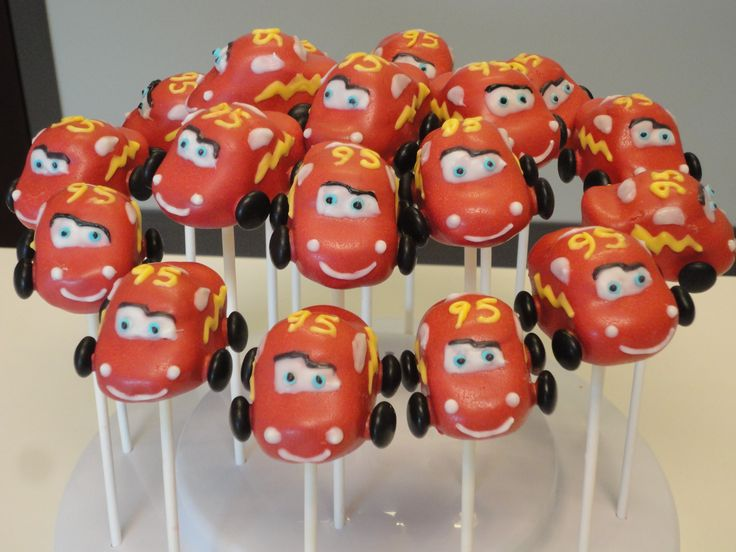 Disney Cars Cake Pops