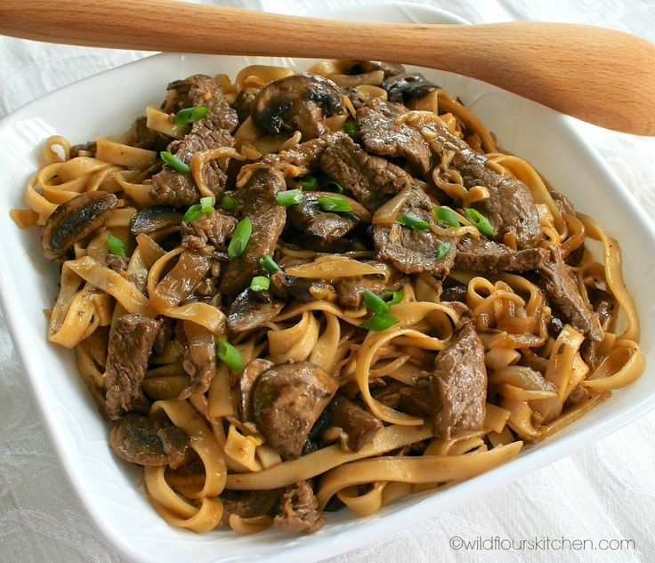 beef lo mein bowl