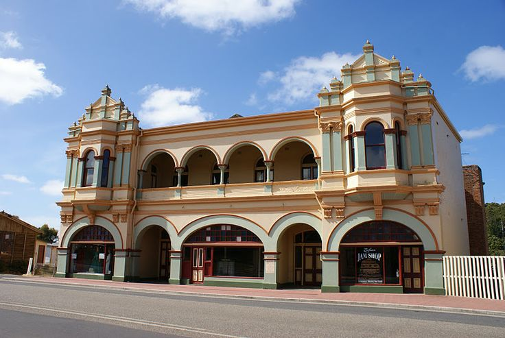 The distinctive Gaiety Theatre in Zeehan (1899) has a capacity of 1000 and was once the largest and most modern theatre in Australia. #zeehan #tasmania #discovertasmania Image Credit: neleandrewaroundoz