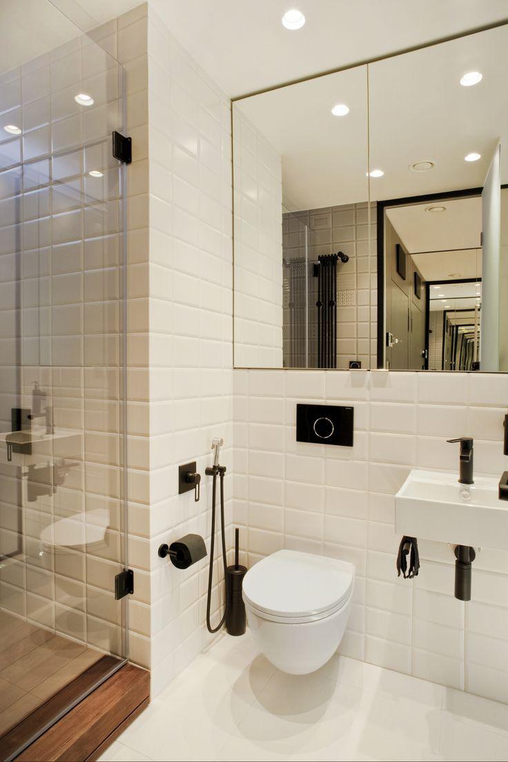 foorni.pl   Małe mieszkanie w Sofii, białe płytki w łazience