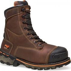 089628214 Timberland PRO Men's Boondock WP Safety Boots - Brown