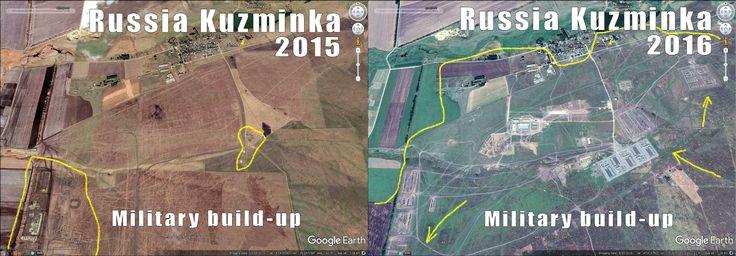 Russian military build-up keeps crowing at Ukraine border.  Here is Kuzminka area.