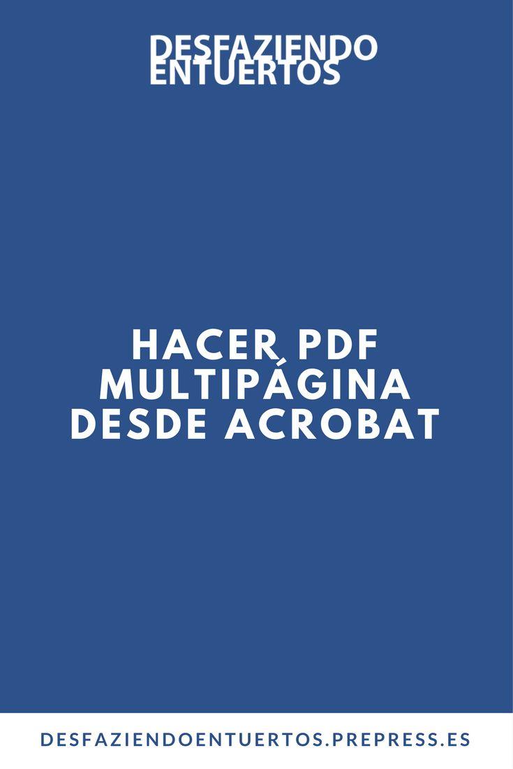 """""""¿A quién no le ha llegado a sus manos un trabajo de muchas páginas de las cuales, ¡sorpresa!, te han hecho 1 PDF por página? Al verlo a uno se le ponen los pelos de punta y se pregunta como es posible que te llegue a estas alturas algo así? Gracias a ACROBAT PRO tenemos la posibilidad de unificarlos en un solo archivo haciendo el trabajo más fácil.  A continuación explicaré cómo unificar o combinar muchos PDF's o archivos compatibles con Acrobat"""""""