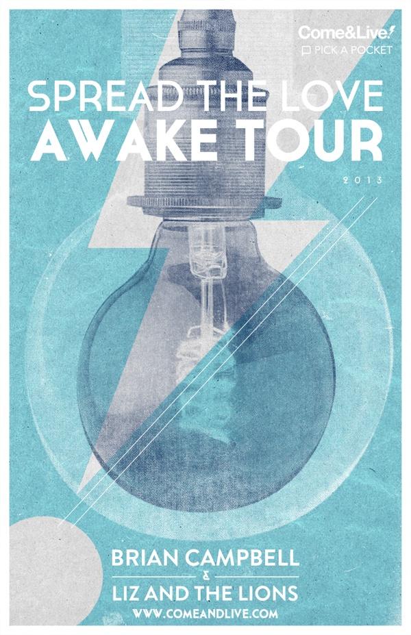 C Awake European Tour by Nicholas D'Amico, via Behance