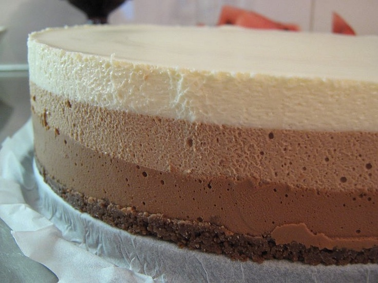 Mau!kas ruokablogi: Kolmen suklaan juustokakku