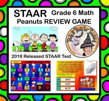 STAAR REVIEW GAME 6th grade Math 2018 Released TEST ...