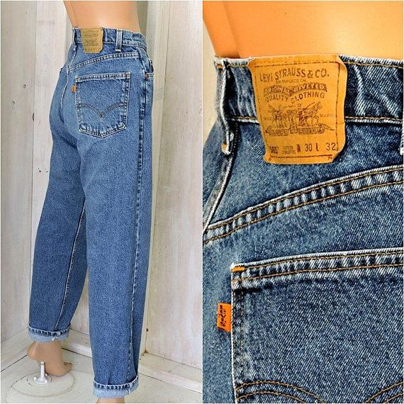 Vintage 70s 80s Levis Levi S Orange Tab Jeans 30 X 32 Made In Usa High Waisted Straight Loose Fit Mens Womens Size Levi Womens Sizes Vintage 70s