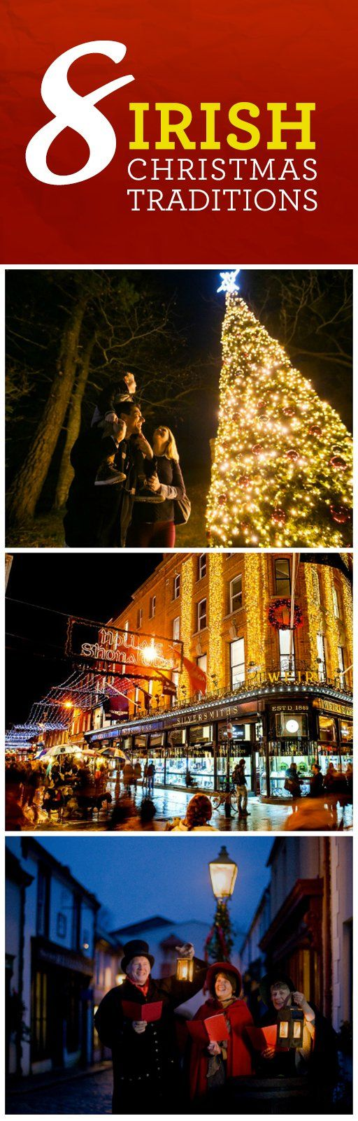 From Christmas trees to magical mistletoe, Ireland is big on traditions at this most wonderful time of the year. Festive greetings come in different languages, and we've even written our own Christmas carols. This merry season, we would like to wish you all a Happy Christmas from Ireland!