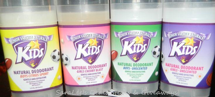 kids deodorant age | Junior Varsity Naturals Kids Deodorant - SaraLee's Deals Steals ...