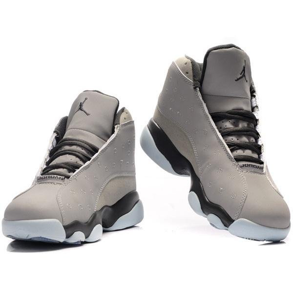 best authentic a778f 819a9 ... Nike Air Jordan 13 Shoes Light Grey suede deep J13-172 via Polyvore  Fashion Nike ...