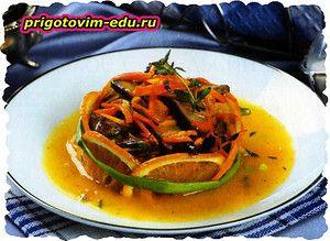 Говядина с апельсинами и соевым соусом