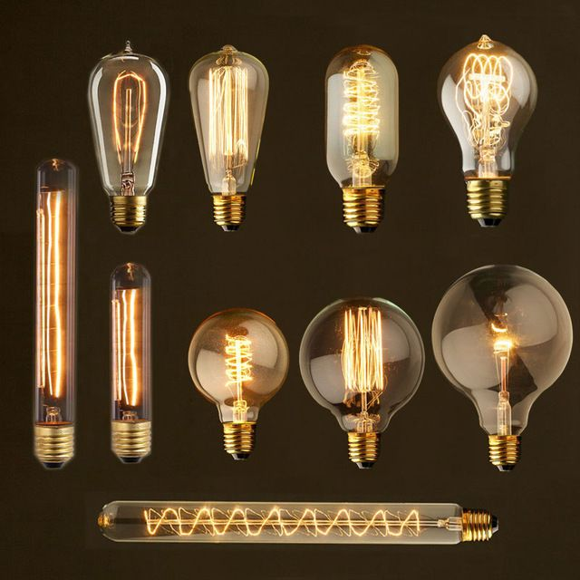 Edison Lampy E27 220 V 40 Vt St64 A19 G80 G95 Retro Lampy Nakalivaniya Edison Lampy Nakalivaniya Lampochki Amp Vintage Light Bulbs Vintage Bulb Edison Light Bulbs