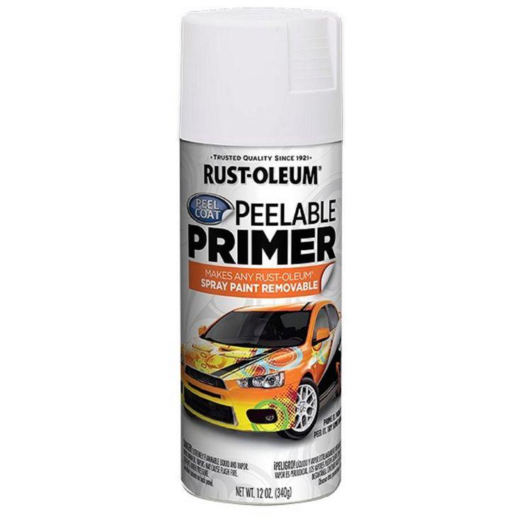 Rust-Oleum 12 oz. Peel Coat Peelable Primer Spray Paint (Case of 6), White