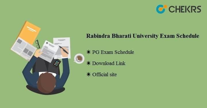 Rabindra Bharati University Exam Schedule 2019 Know Here University Exam Exam Schedule University