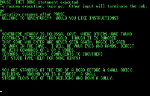 """Initially created to bring explorations in the Mammoth Cave into fruition for his kids visits Will Crowther created the first adventure computer game in 1976. A programmer and """"experienced caver"""" Crowther added fantasy elements to his cave experiences in the game. The game also has aspects from a """"non-computer role-playing game called Dungeons and Dragons."""" The game is all text with player moves completed with two-word commands in order to """"navigate the cave, fight enemies, and locate…"""