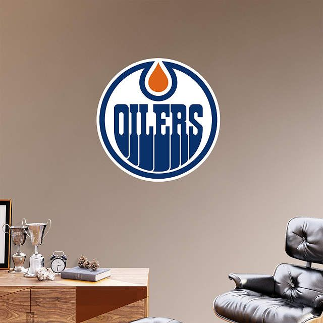 Edmonton Oilers fan? Prove it! Put your passion on display with a giant Edmonton Oilers Logo Fathead wall decal!