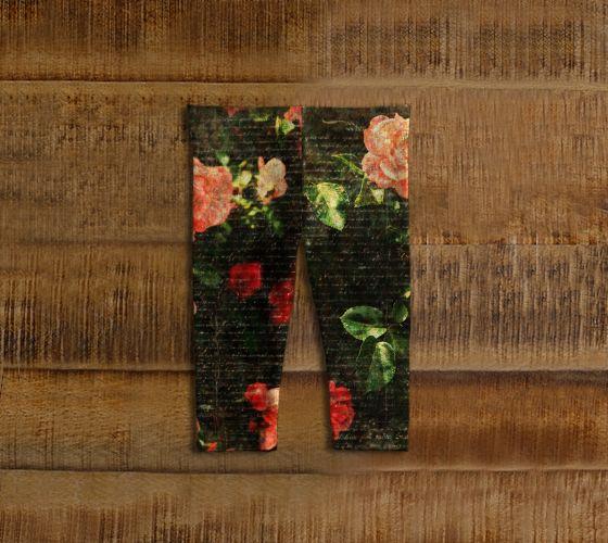 "#ArtOfWhere Baby+leggings+""Roses+vintage+scripts""+by+Marosée+Créations"