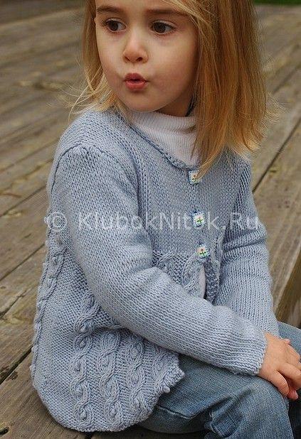 Жакет для девочки Little Cable из Sublime   Вязание для девочек   Вязание спицами и крючком. Схемы вязания.