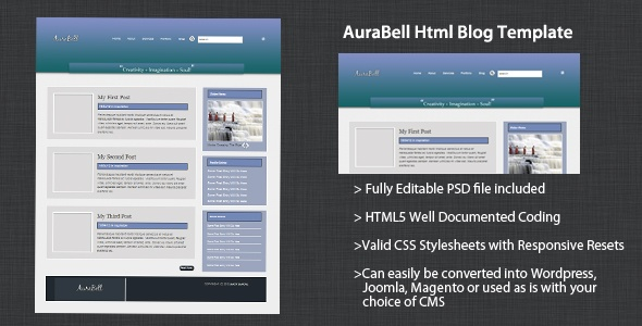 AuraBell #HTML #Template available on #graphicmonk