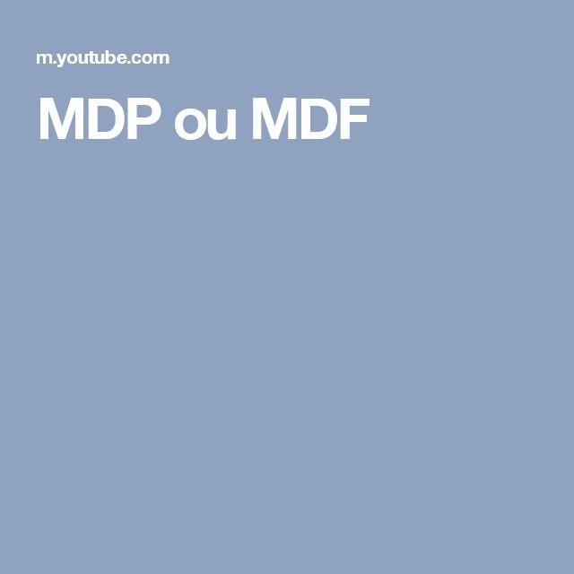MDP ou MDF