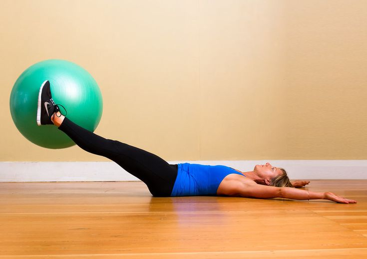 Although this move targets your abs, squeezing a ball between your legs also works your inner thighs. Here's a video demonstrating this effective move.