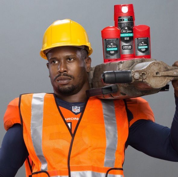 Denver Bronco's Star Von Miller Is The New Old Spice Guy http://www.herpinkjersey.com/denver-broncos-star-von-miller-new-old-spice-guy/