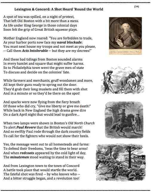 Battle of Lexington and Concord Poem