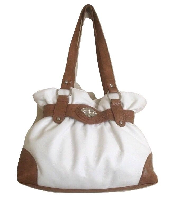 Bueno Purse White Faux Leather Ruffle Top Shoulder Bucket Bag In 2018 Stuff To Pinterest And Bags