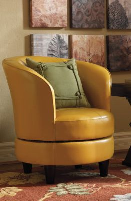 Rebecca Leather Swivel Chair.