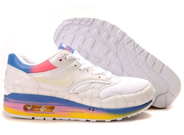 Air Max 87 White Blue Pink Yellow Women Shoes    If you like, do not miss you navigate interface, do not hesitate it is absolutely your heart wanted, and high quality low price goods much faster, hurry to buy it do not worry it will give you the perfect body to bring another one kind of joy...