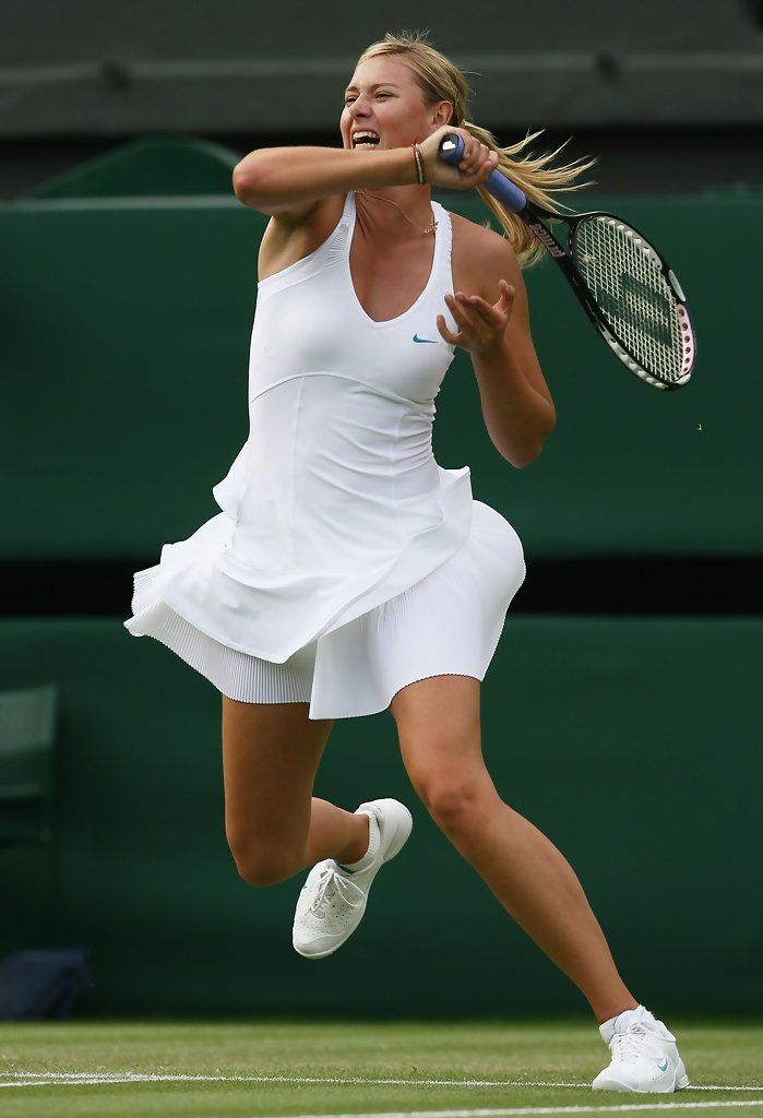 Maria Sharapova of Russia plays a forehand during the Women's Singles second round match against Severine Bremond of France during day four of the Wimbledon Lawn Tennis Championships at the All England Lawn Tennis and Croquet Club on June 28, 2007 in London, England.