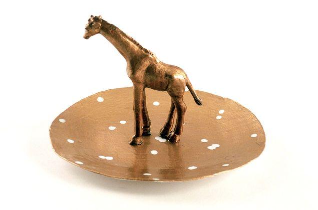 Delightfully DIY: Paper Mache Giraffe Ring Dish