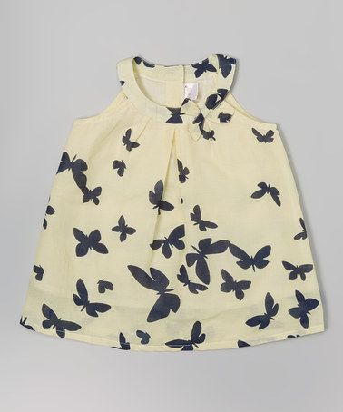 Love this White & Black Butterfly Dress - Infant on #zulily! #zulilyfinds