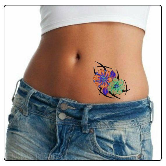 Tatuaggio fiore impermeabile Ultra sottile realistici tatuaggi