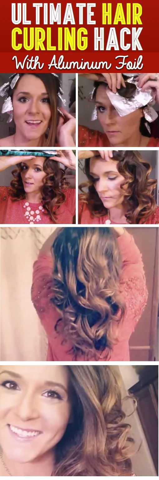 cool Ultimate Hair Curling Hack With Aluminum Foil - You Won't Believe Your Eyes!  – Cute DIY Projects
