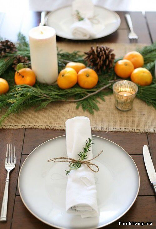 5 Simple Table Settings Using Greens & Candles