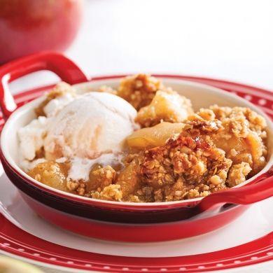 Croustade pommes et érable - Desserts - Recettes 5-15 - Recettes express 5/15 - express - rapide - Pratico Pratiques