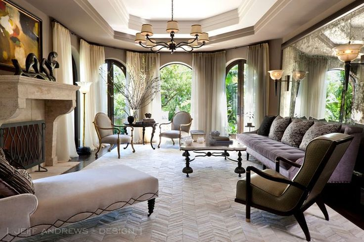 Kris Jenner's livable glam living room