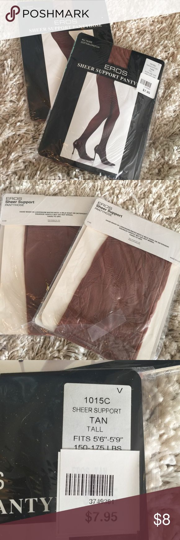 Tan Pantyhose Nylons NWT Listing is for both pairs! Bought for my wedding but ended up not needing them. 👭😁 Please see picture for sizing information Intimates & Sleepwear Shapewear