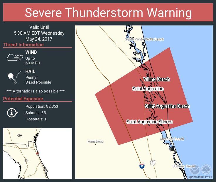Severe Thunderstorm Warning including Saint Augustine FL and Saint Augustine Shores FL until 5:30 AM EDTpic.twitter.com/P5sd4xWMLh - https://blog.clairepeetz.com/severe-thunderstorm-warning-including-saint-augustine-fl-and-saint-augustine-shores-fl-until-530-am-edtpic-twitter-comp5sd4xwmlh/