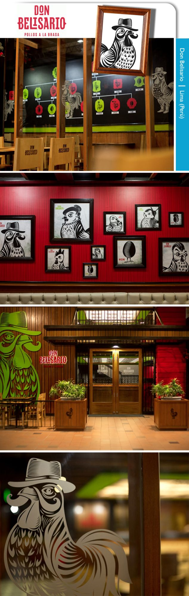 Don Belisario chicken restaurant in Peru. Cute concept!
