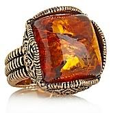 Studio Barse Honey Amber Bronze Ring