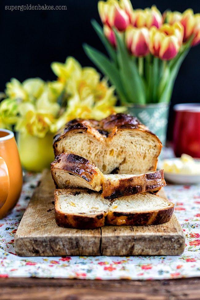 Orange and Chocolate Hot Cross Bun Loaf (Tangzhong method)