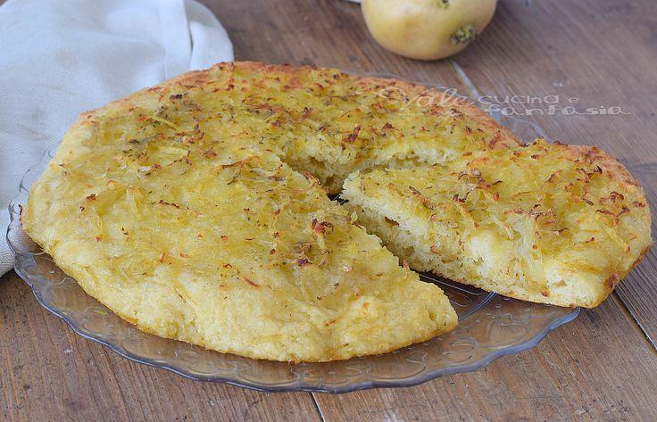 FOCACCIA ALLE PATATE morbidissima ricetta lievitato con patate nell'impasto, e patate per farcire, soffice, leggera e buonissima