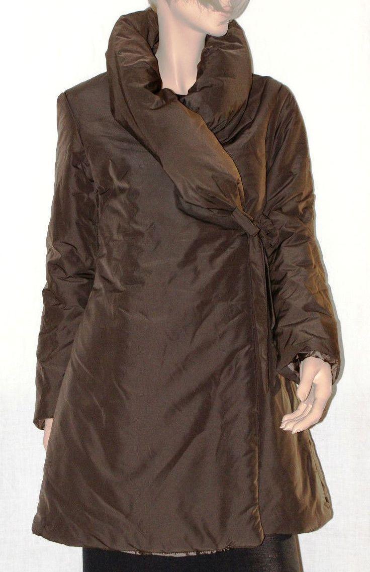 Elegant&Warm Woman Padded Jacket Brown Color Size M Made in Italy Piumino Giaccone Marrone Donna Elegante Collo a Ciambella Taglia M di BeHappieWorld su Etsy