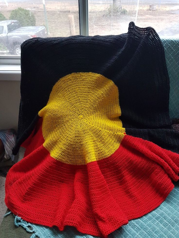 Aboriginal flag crochet blanket I made   Crochet ...